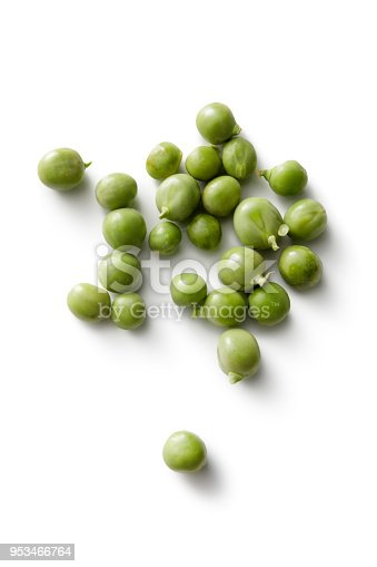 Vegetables: Green Peas Isolated on White Background