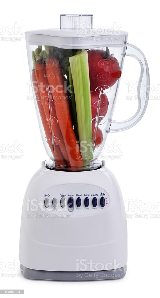 Vegetables in a Blender royalty-free stock photo