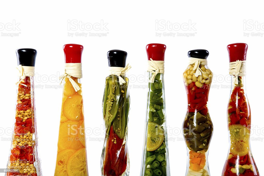 Vegetables in a bottle royalty-free stock photo