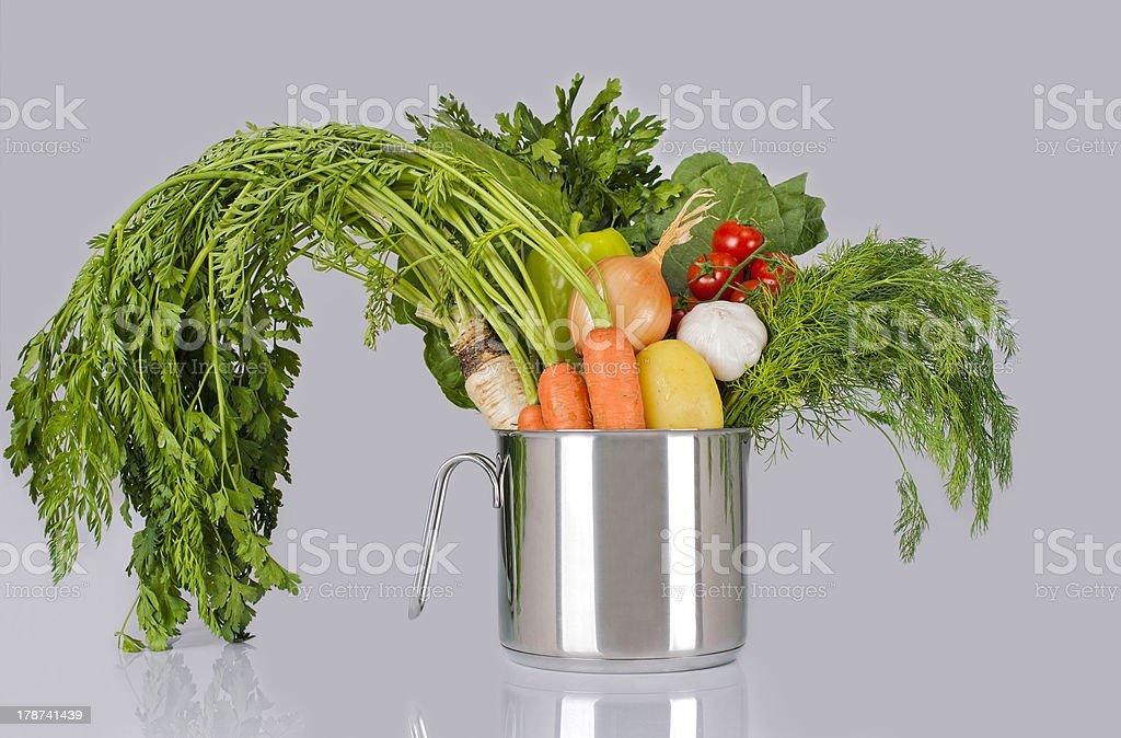 vegetables in a pot royalty-free stock photo