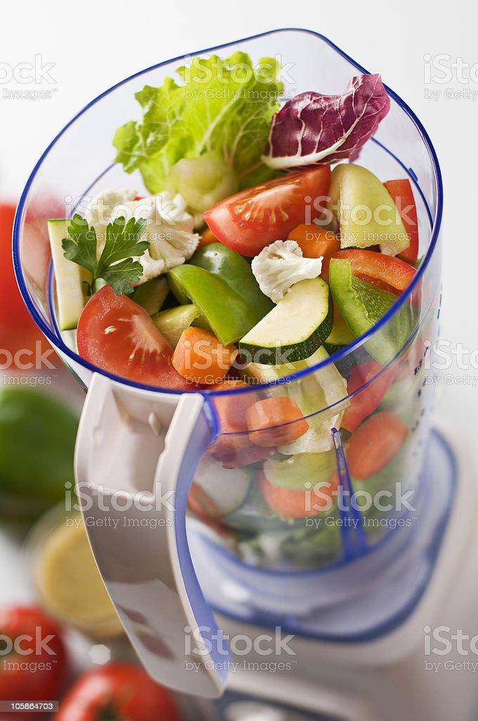 Vegetables in blender royalty-free stock photo