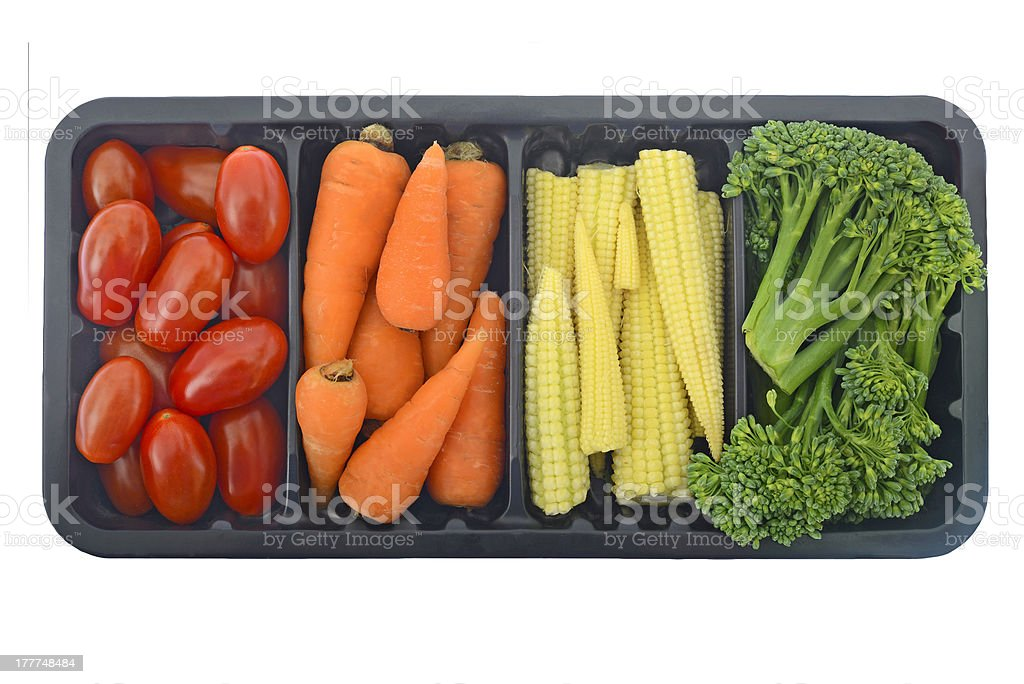 Vegetables in container isolated royalty-free stock photo
