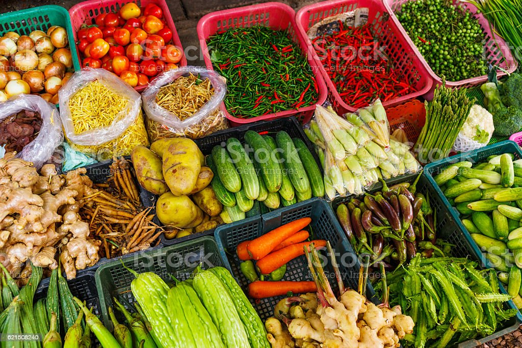 Vegetables in food market foto stock royalty-free