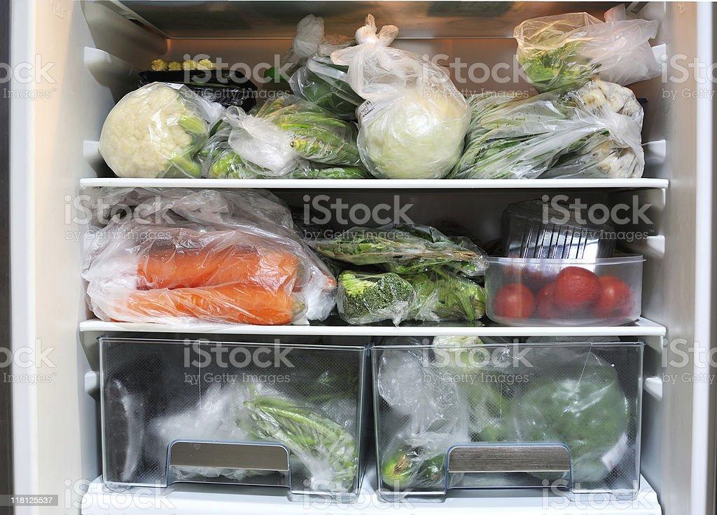 vegetables in fridge stock photo