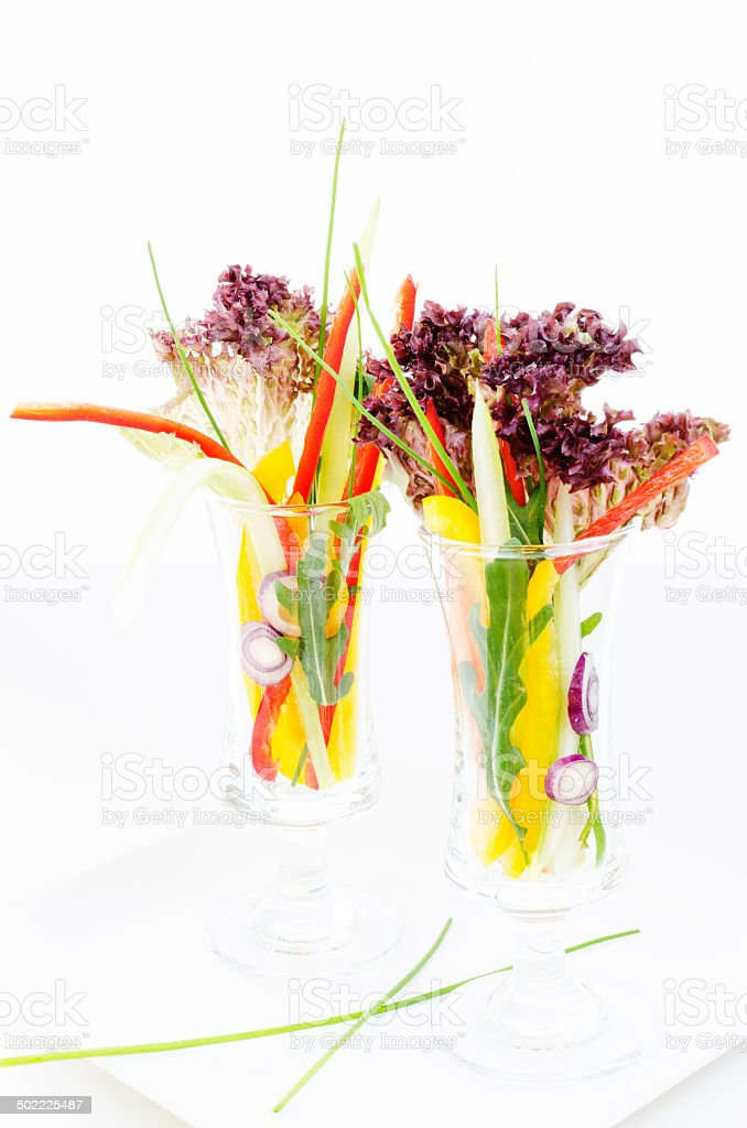 Vegetables in glass royalty-free stock photo