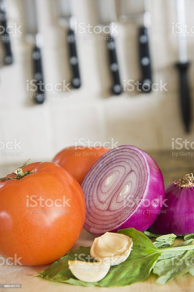 Vegetables in Kitchen royalty-free stock photo
