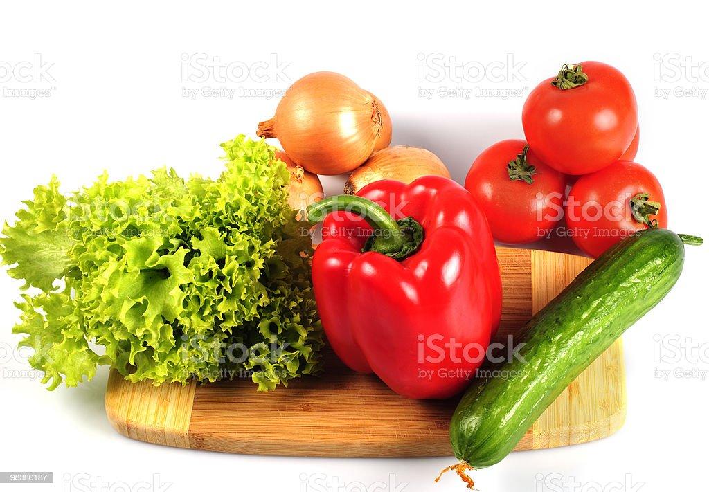 Verdure in cucina foto stock royalty-free