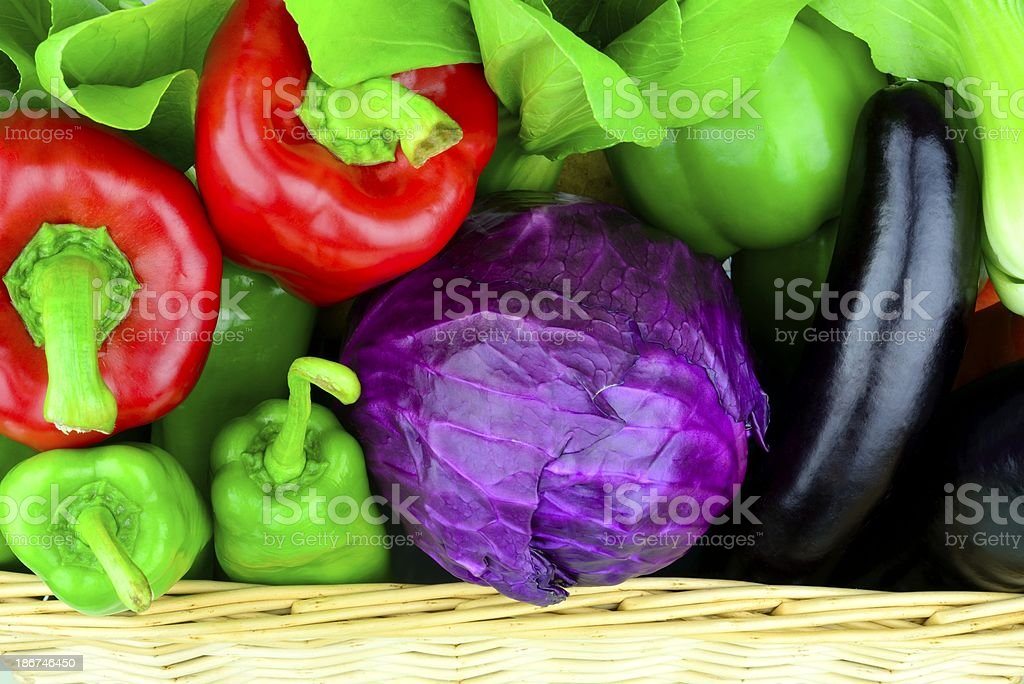 vegetables in the basket royalty-free stock photo