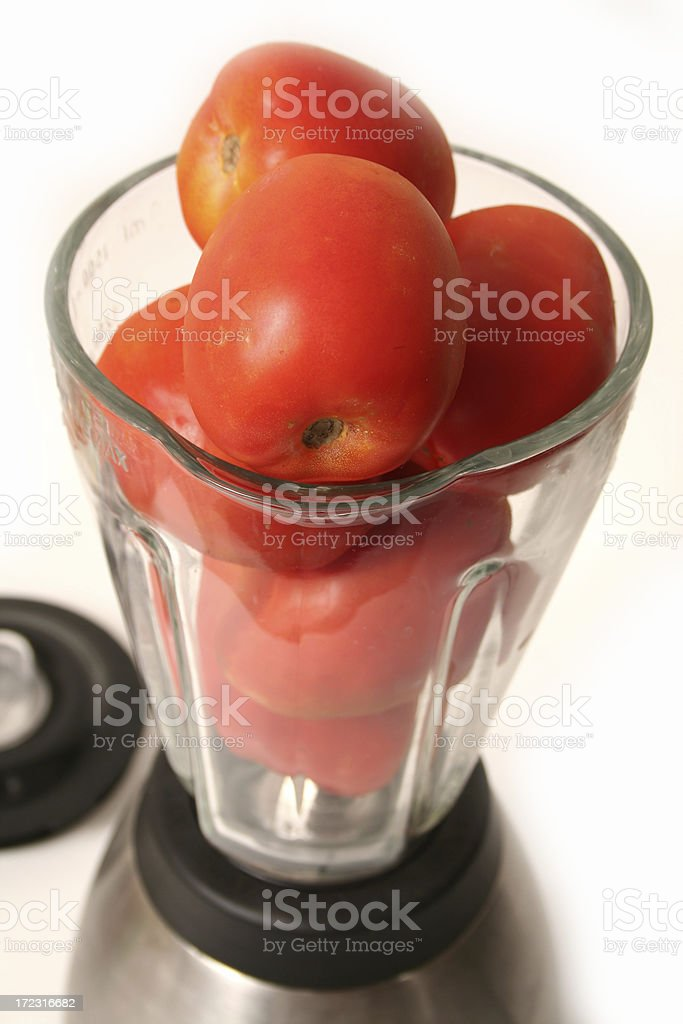 Vegetables in the blender royalty-free stock photo