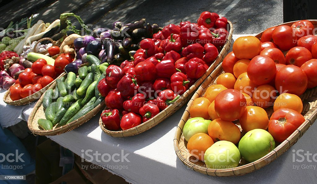 Vegetables in the Marketplace royalty-free stock photo
