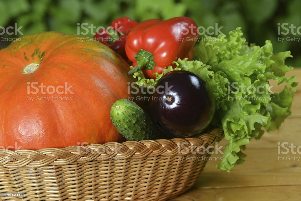 vegetables in wicker royalty-free stock photo