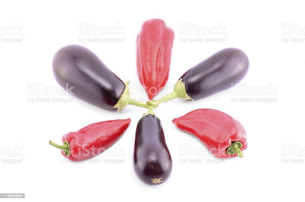 Verduras aislado sobre un fondo blanco foto de stock libre de derechos