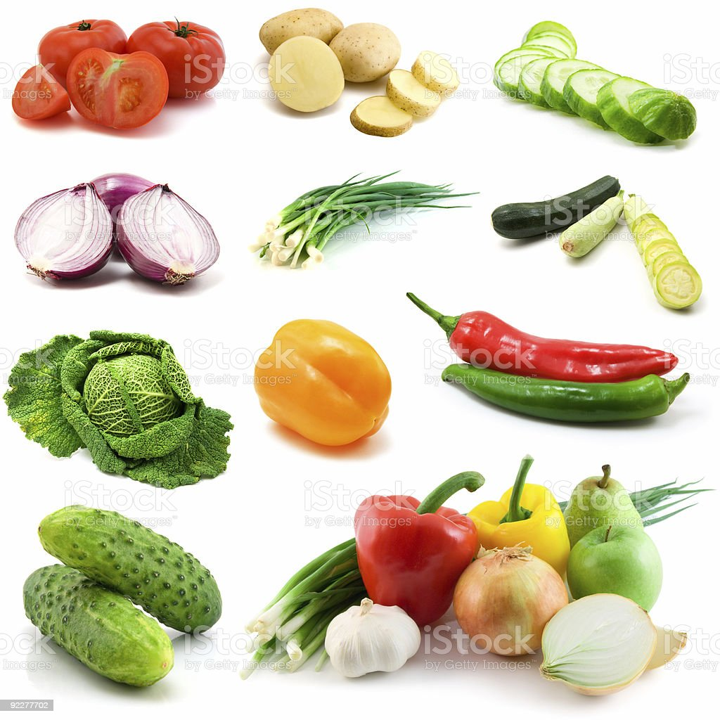vegetables isolated on the white royalty-free stock photo