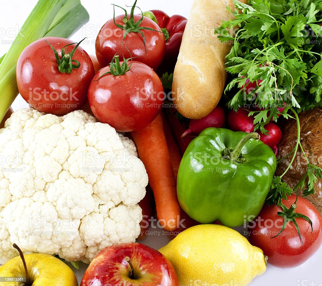 Vegetables isolated on white. royalty-free stock photo