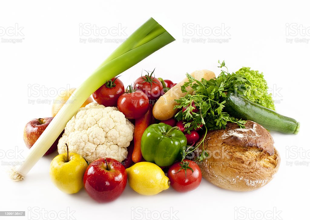 Vegetables isolated on white stock photo