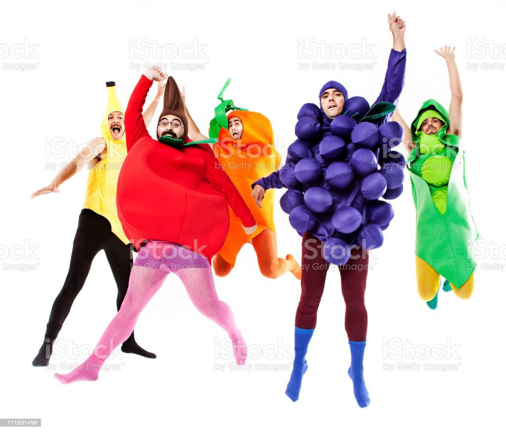 Vegetables jumping royalty-free stock photo