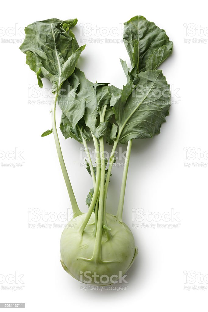 Vegetables: Kohlrabi Isolated on White Background stock photo