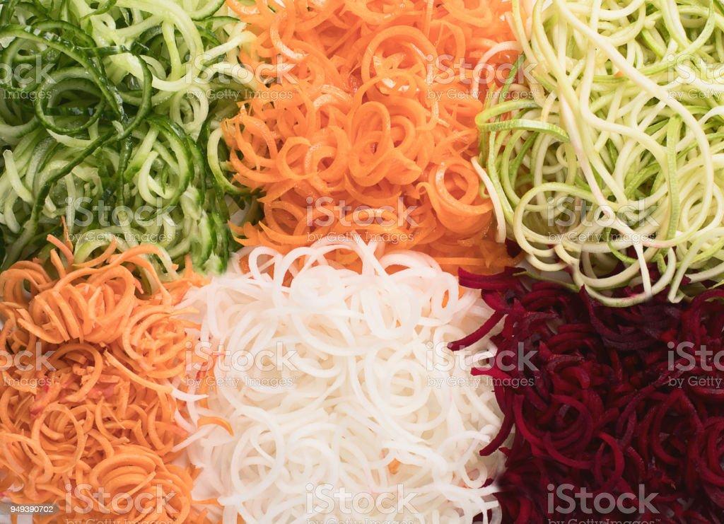 Vegetables noodles. stock photo