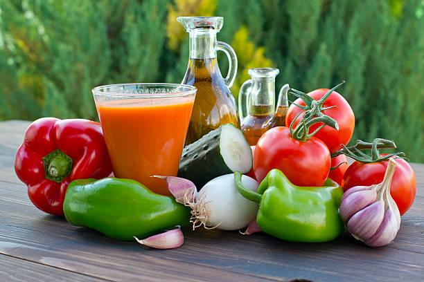 야채면 식초, 올리브 오일 스톡 사진