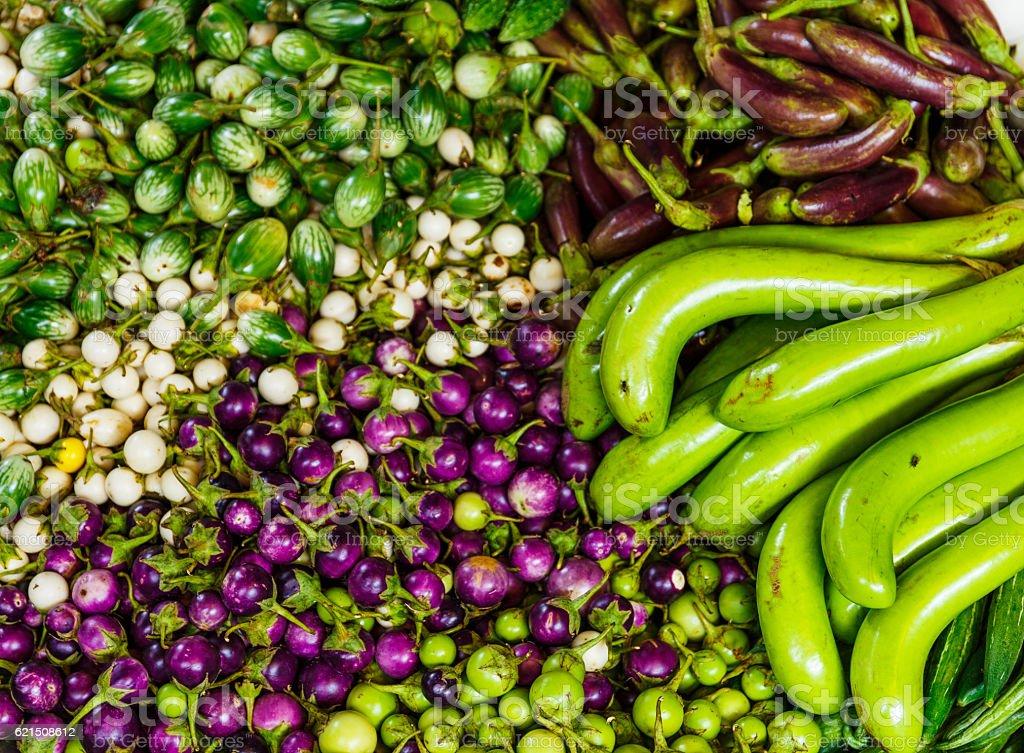 Vegetables on a market stall photo libre de droits