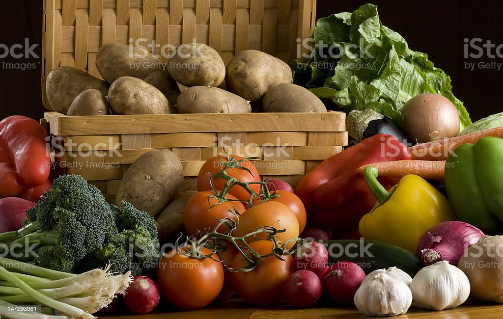 Vegetables on a table royalty-free stock photo