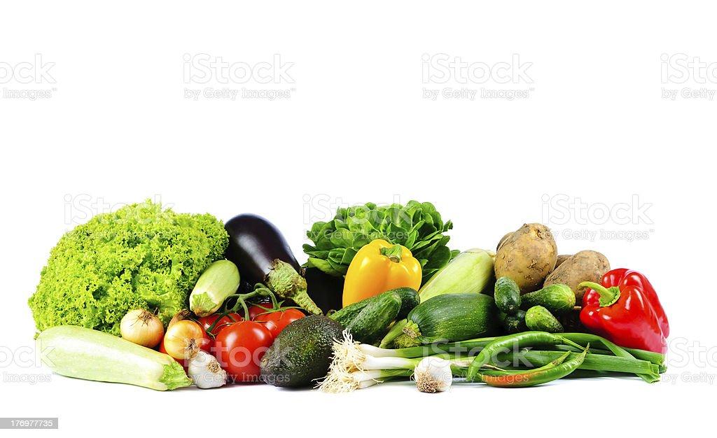 Gemüse auf einem weißen Hintergrund. – Foto