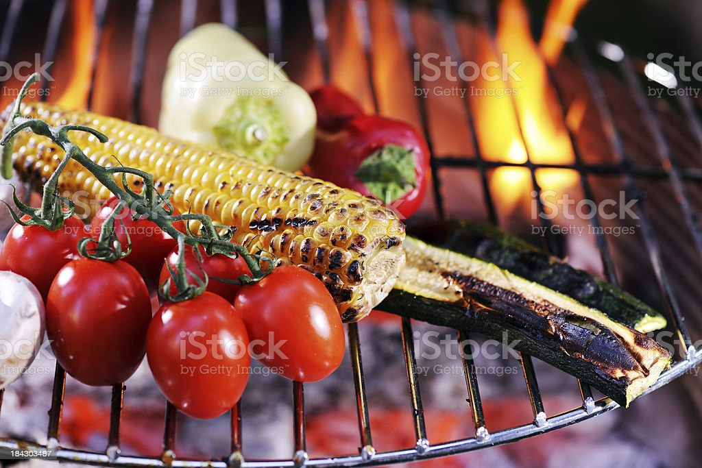 Vegetables on Barbecue royalty-free stock photo