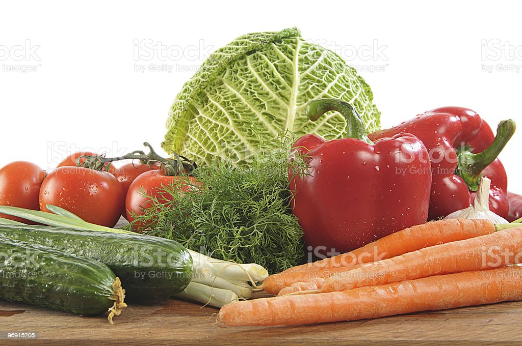 vegetables on board royalty-free stock photo