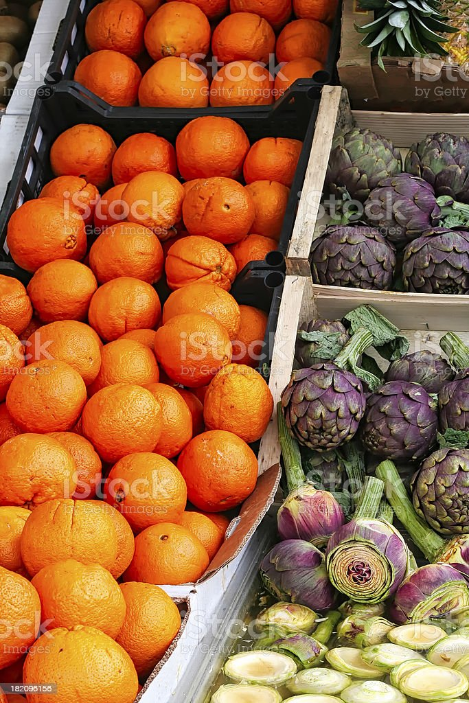 Vegetables on Offer at an Outdoor Market royalty-free stock photo