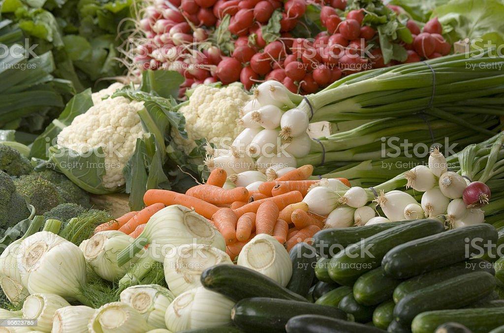 vegetables on street market royalty-free stock photo