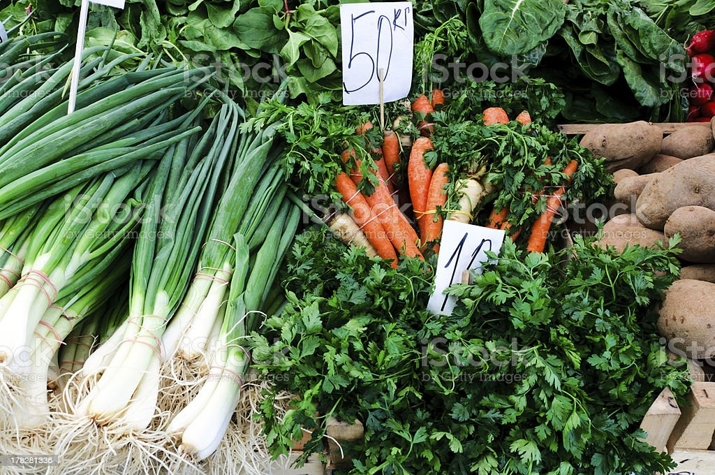 Vegetables on the market royalty-free stock photo