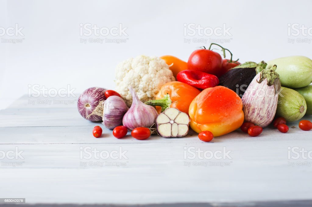 Vegetables on the table in home kitchen. royalty-free stock photo
