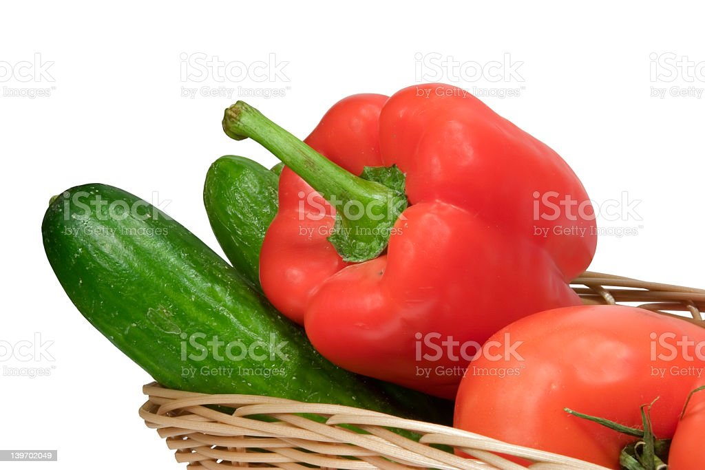 Vegetables on white background with clipping path royalty-free stock photo