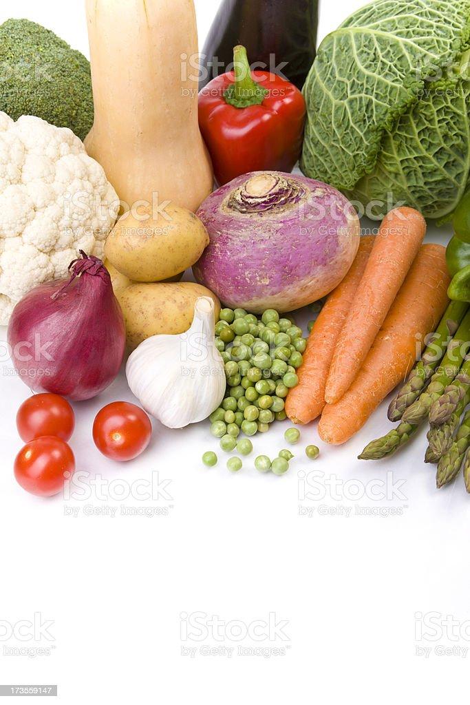 Vegetables on White royalty-free stock photo