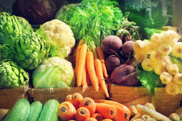 groenten - bazaar stockfoto's en -beelden