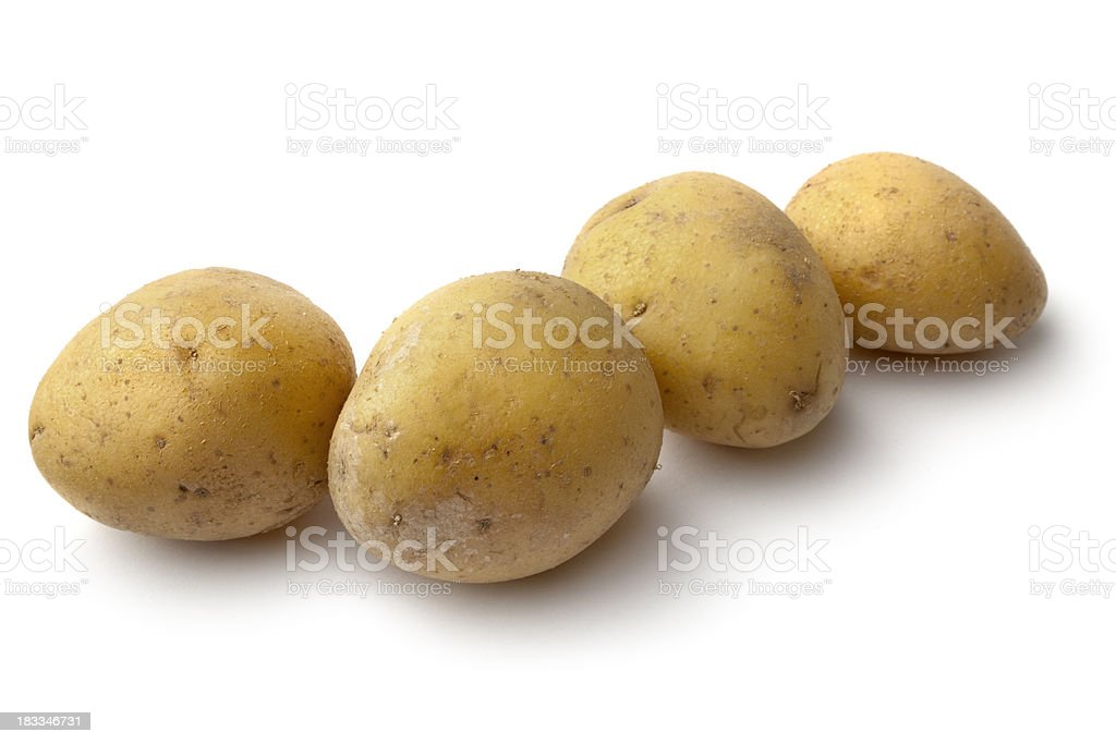 Vegetables: Potato Isolated on White Background royalty-free stock photo