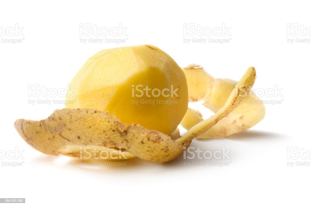 Vegetables: Potato Isolated on White Background stock photo