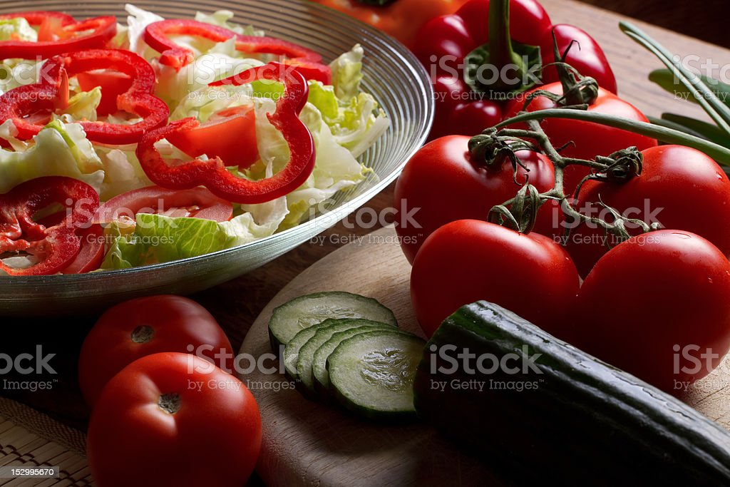 Vegetables ready for salad royalty-free stock photo