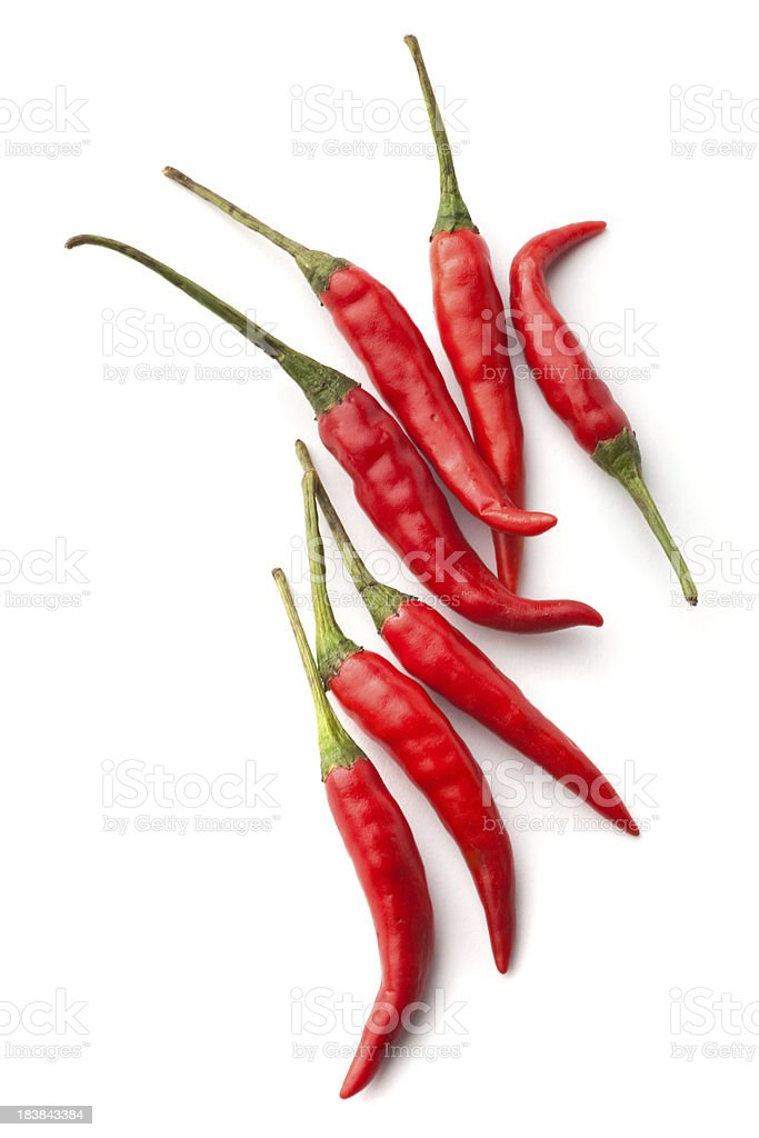 Vegetables: Red Chili Pepper Isolated on White Background royalty-free stock photo