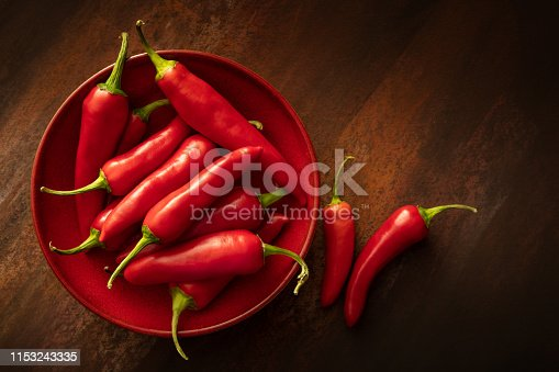Vegetables: Red Chili Peppers Still Life
