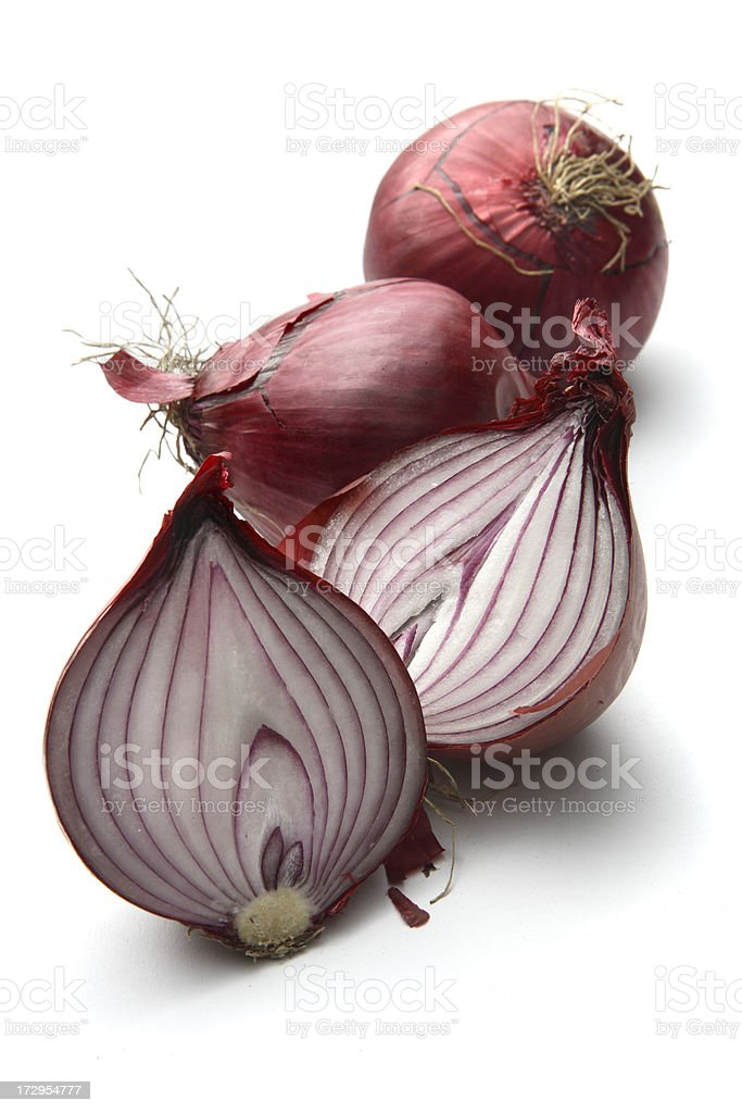 Vegetables: Red Onion Isolated on White Background royalty-free stock photo