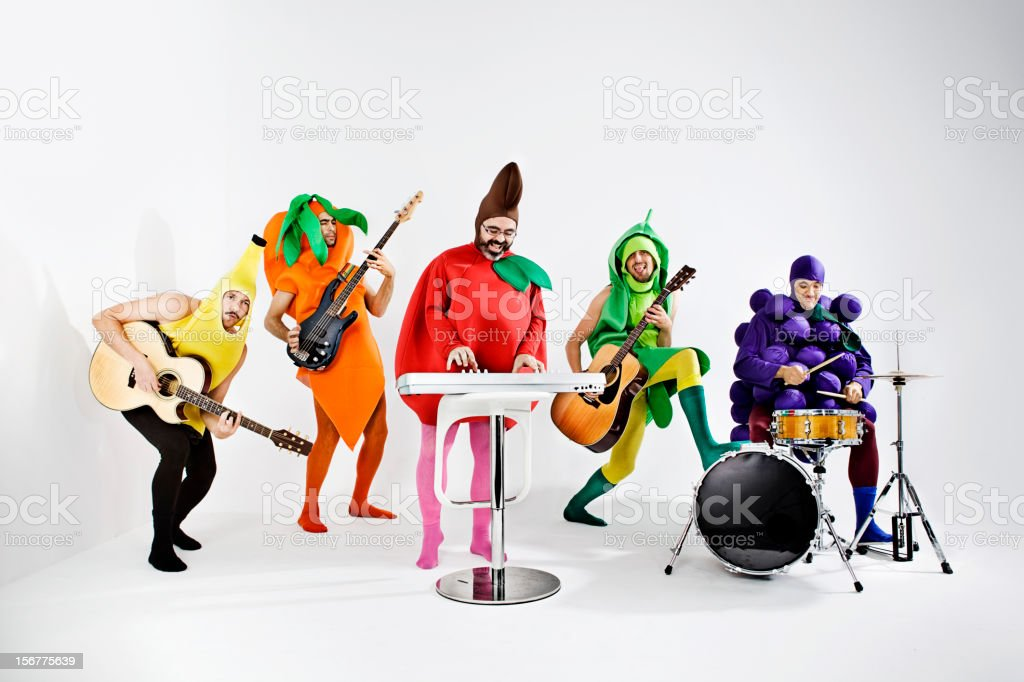 Vegetables Rock band stock photo