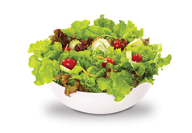 vegetables salad in a bowl stock photo