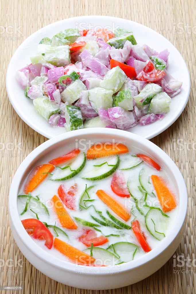 Vegetables salads stock photo