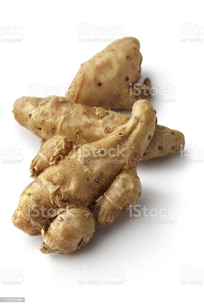 Vegetables: Sand Ginger Isolated on White Background royalty-free stock photo