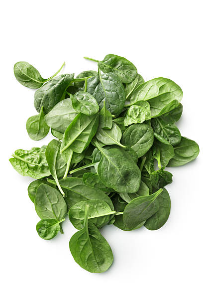 Vegetables: Spinach Isolated on White Background stock photo
