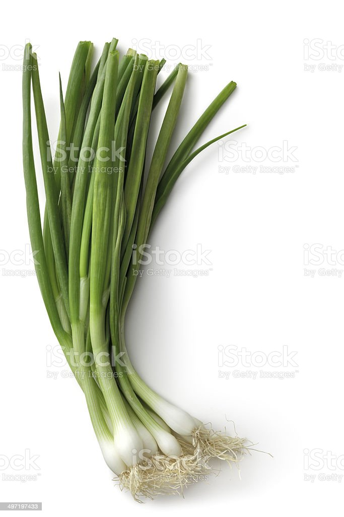 Vegetables: Spring Onion Isolated on White Background - Royalty-free Biologisch Stockfoto