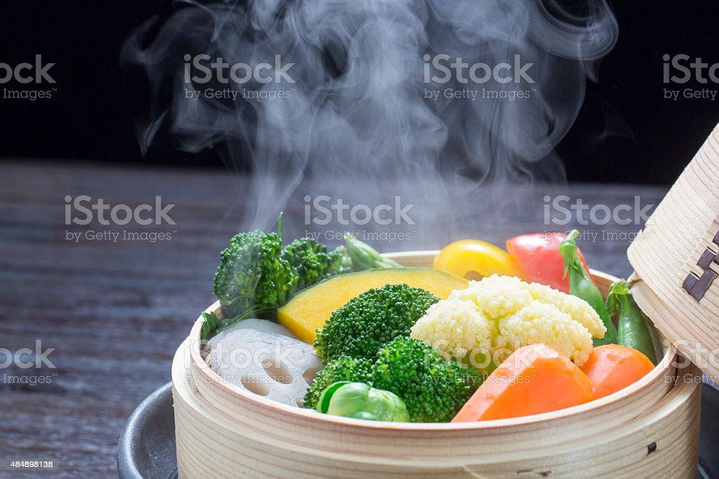 Legumes no vapor foto royalty-free