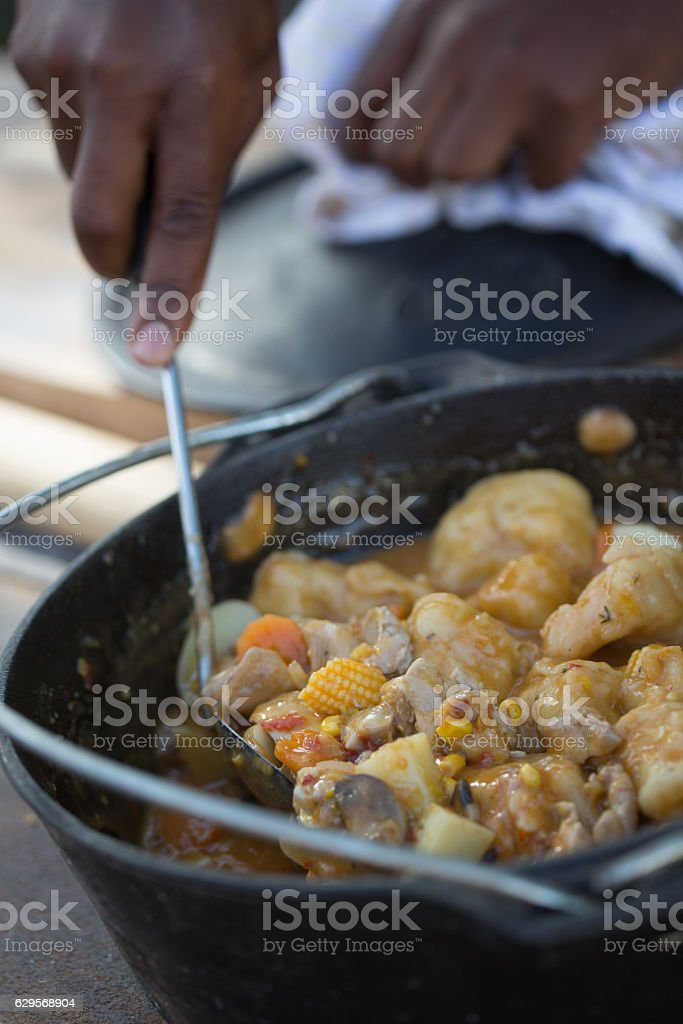 Vegetables Stew and Dumplings stock photo