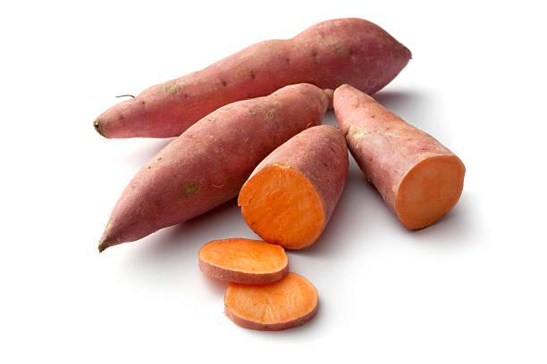 warzywa: słodki ziemniak - słodki ziemniak zdjęcia i obrazy z banku zdjęć